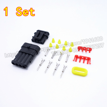 1 Set AMP 1.5 Series Connector Kits 4 Pins Male Female Auto Connector Plug Enhanced Seal AMP 282088-1 282106-1