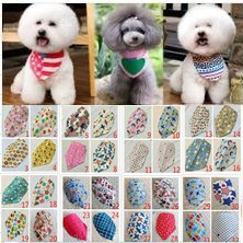 100pcs lot wholesale 2019 New arrival Mix 60 Colors Dog Puppy Pet bandana Collar cotton bandanas