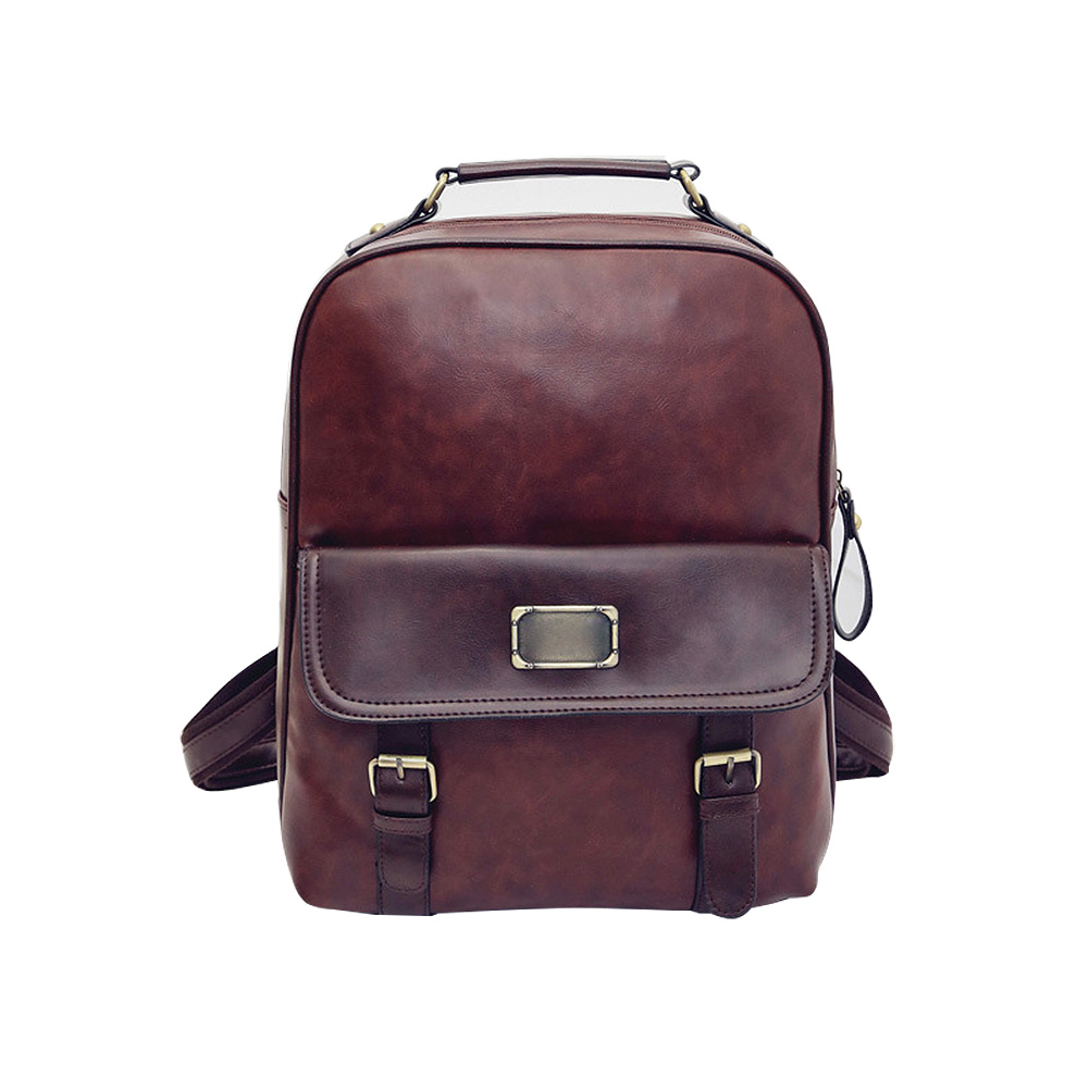 Women Backpack Backpack College Style PU Leather School Vintage Student Schoolbag Rucksack LXX9 miwind fashion women backpack college style pu leather women school backpack vintage women shoulder bag girls schoolbag tbb661