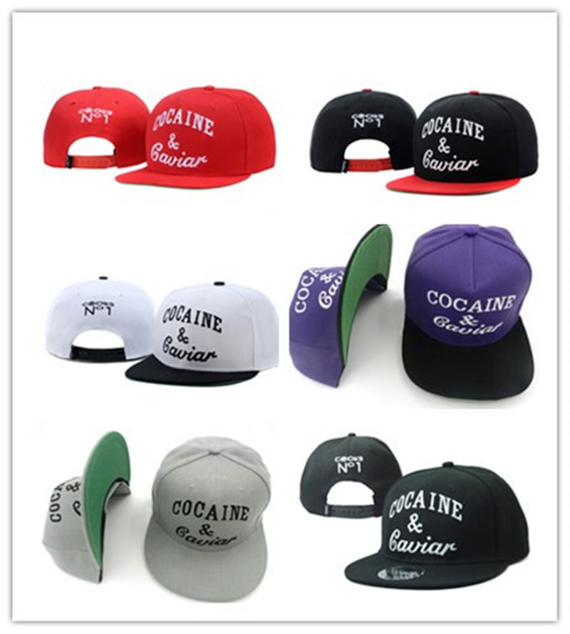 MNKNCL 2017 New Fashion Baseball Cap Adjustable Snapback Hats Cocaines & Caviar Hip Hop Caps For Men And Women new fashion snapback caps men solid japanese letter adjustable baseball hats for men women hip hop baseball cap chapeau homme