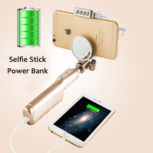 Партнер для путешествий Selfie Придерживайтесь Телефон владельца Зеркало Заднего Вида 4 LED Light Портативный Встроенный 3200 мАч Power Bank