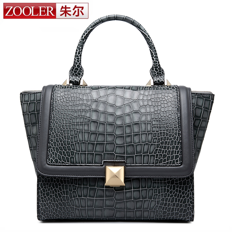 ZOOLER Luxury Designer Brand New Style Women Genuine Leather Bag Fashion Trapeze Bags Top-Handle Bag Satchel Snape Shoulder Bags luxury genuine leather bag fashion brand designer women handbag cowhide leather shoulder composite bag casual totes