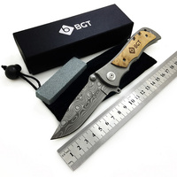 339 Tactical Hunting Folding Knife 9CR18 Damascus Pattern Survival Combat Pocket EDC Multi Knives Camping Outdoor