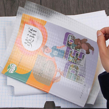 Office Self-adhesive clear Bookcover stickers PP material Transparent Contract paper protect 50*36cm adhesive cover 10pcs/lot
