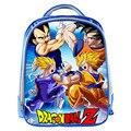 Nueva Lindo Mochilas escolares Mochila de Dibujos Animados Dragon Ball 13 Pulgadas Azul para Pequeños Niños Lindos Bolsa de La Escuela Infantil Mochila Para Bebé Mejor regalo