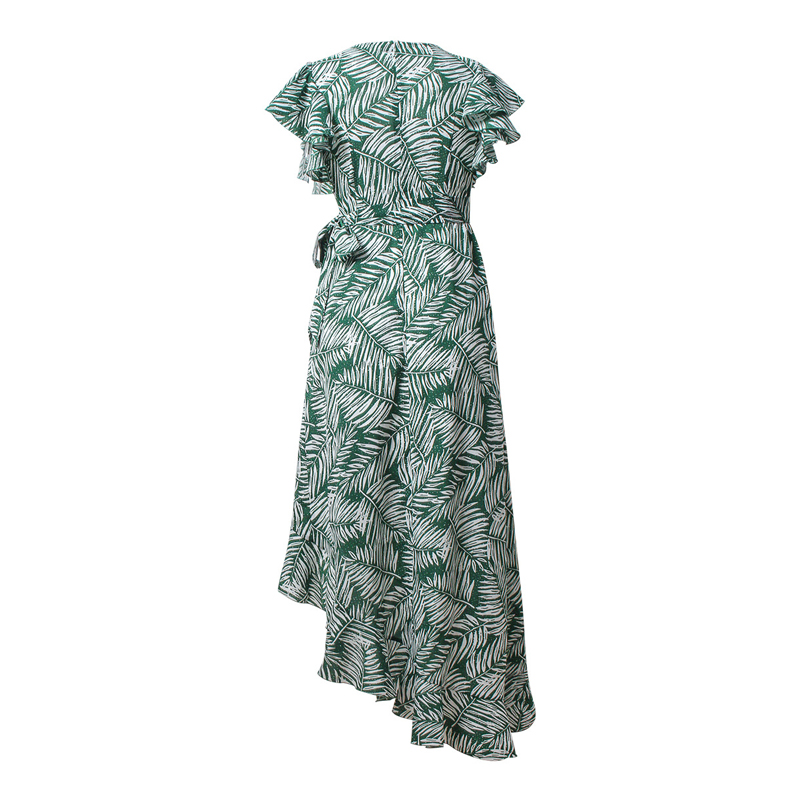 6616ec8ad5e0e US $18.19 30% OFF|OTEN bohemian maxi dresses 2018 Summer Sexy Deep V  Butterfly Sleeve Mori Style Irregular Hem tropical vacation holiday  dress-in ...