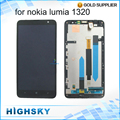 Tested Display For Nokia Lumia 1320 LCD With Touch Screen Digitizer + Frame Black High Quality 1 Piece Free Shipping