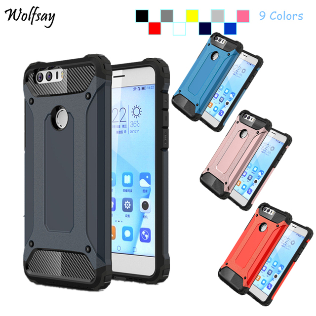 official photos 787dd 0eb81 US $2.68 37% OFF|Wolfsay For Cover Case Huawei Honor 8 Case Silicone Hard  Back Armor Phone Cover For Huawei Honor 8 Cases For Honor 8 Cover Bag <-in  ...