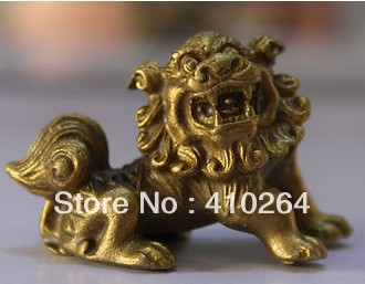 4 Cm Chinese Bronze Carved Guardian Foo Fu Dog Phylactery Door Lion Animal Sculpture Statue Discount 30%