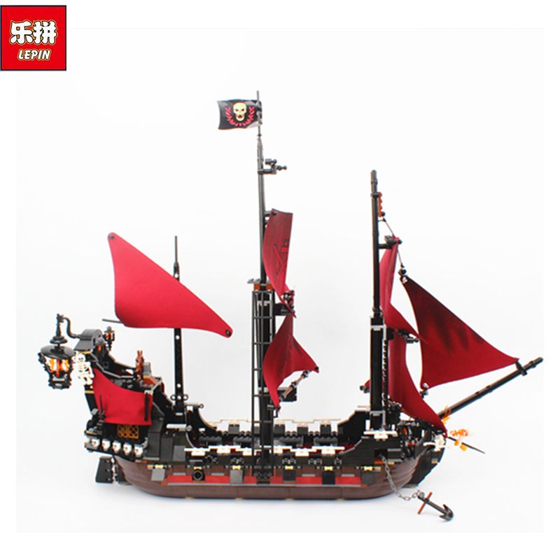 New LEPIN 16009 1151pcs Queen Anne's revenge Pirates of the Caribbean Building Blocks Set Compatible with 4195 lepin 16009 1151pcs queen anne s revenge pirates of the caribbean building blocks set compatible with 16006 children diy gift