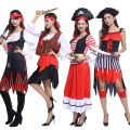Free shipping Halloween costume adult men and women Pirate Pirate captain costume Theatrical Costume pirate role-playing captain