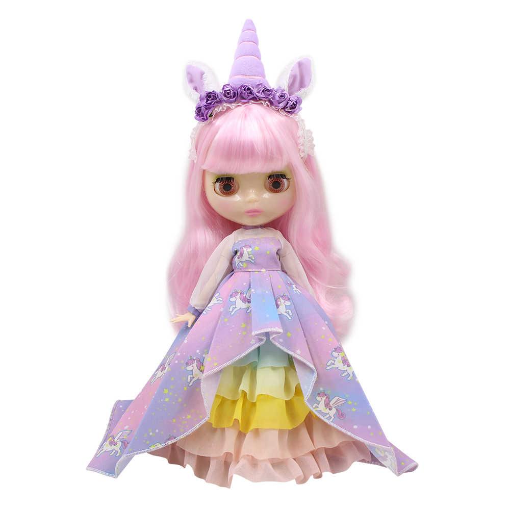 Blyth кукольная одежда новый фантазийный костюм «Единорог» головной убор Шаль Высокое качество 1/6 кукла нормальный шарнир azone licca куклы Icy