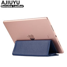 AJIUYU Genuine Leather For Apple iPad mini 4 Case Cowhide Smart Cover Protective Protector For iPad mini4 Tablet 7.9 inch Case
