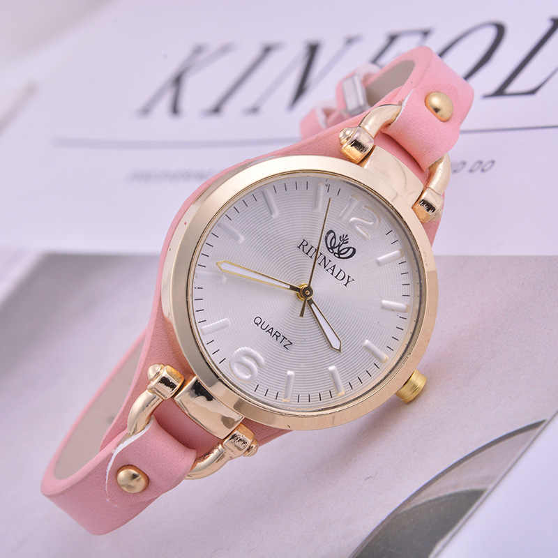 RINNADY Fashion Casual Mini Womens Watch Luxury High Quality Leather Ladies Watches Quartz Wrist Watches For Women Montre Femme