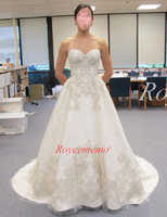 Royeememo Hot Sale High Quality Special Lace Design Wedding Dress Bridal Dress Custom Made Wedding Gown