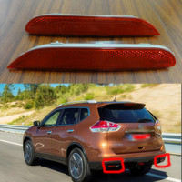 2Pcs Pair RH And LH Car Rear Bumper Tail Back Reflector For NISSAN X TRAIL 2014