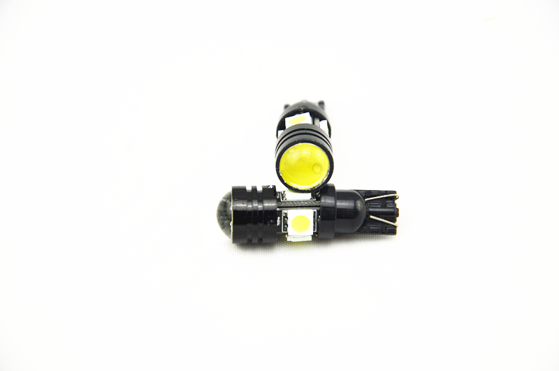 2 X T10 LED W5W Car LED Auto Lamp 12V Light bulbs with Projector Lens Interior Packing Car Styling clearance lights