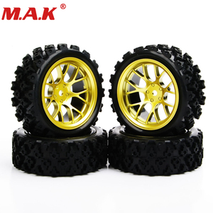 Image 1 - 4pcs/set racing off road tires 12mm hex rubber tyre wheel rim fit for RC 1:10 vehicle car truck toys parts accessories
