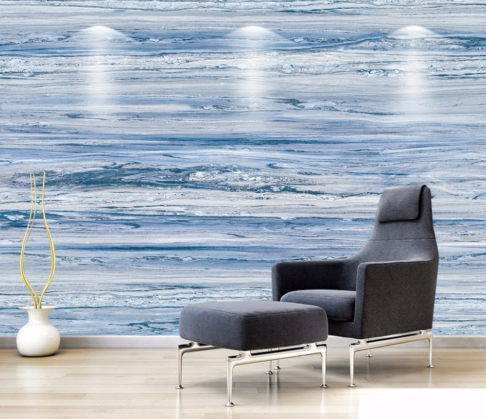 Abstract blue technology grid Photo Wallpaper Mural Giant Wall Covering Decor