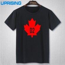 Klassische Vintage Shirts Tops Kanada D2 DSQ T-shirts männer Patchwork Kurzarm Muster Oansatz T-shirts