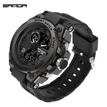2019 new SANDA mens watch top brand luxury waterproof digital outdoor sports relogio masculino