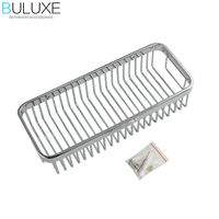 BULUXE Brass Bathroom Accessories Corner Shelf,Chrome Finished Wall Mounted Bath Shower Caddy Storage Holder HP7731