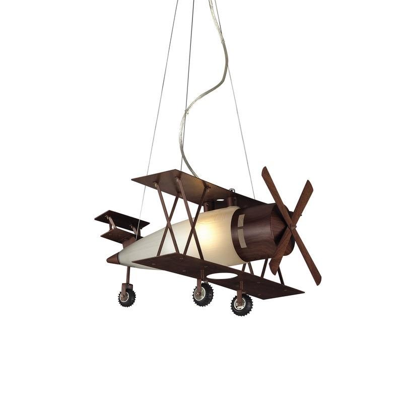 Elk Lighting Biplane Fighter Satin Nickel Pendant Lights For Kids Children Boy Bedroom Pendant Lamp Lighting Suspension Pl278