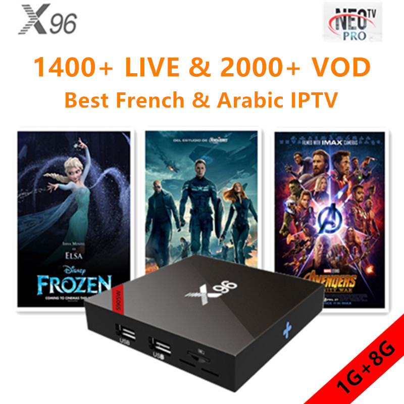 X96 Android 7.1.2 Smart tv box with NEO IPTV 1 year French Arabic Belgium European qhatv for m3u X96 Android 7.1.2 Smart tv box with NEO IPTV 1 year French Arabic Belgium European qhatv for m3u