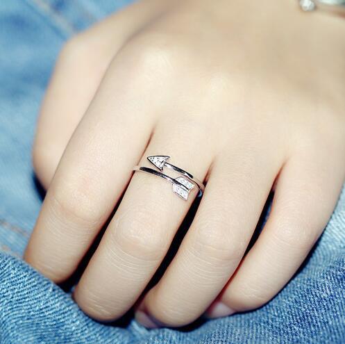 Neuheiten 925 Sterling Silber Ringe Für Frauen Mädchen Amor Pfeil - Modeschmuck - Foto 3