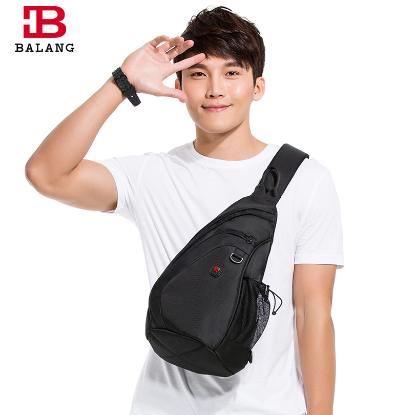 BaLang Messenger Shoulder Bag Male Functional Multilayer Large Capacity Chest Pack for Men Casual Bag Men Nylon Black/Blue/Gray functional capacity of mango leave extracts