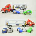 A Set Of Six Cheap Plastic Toys Hot Wheels Toy Cars Inertia Truck Tractor Toys Kids For Children Two Kinds Of Color Model Gift