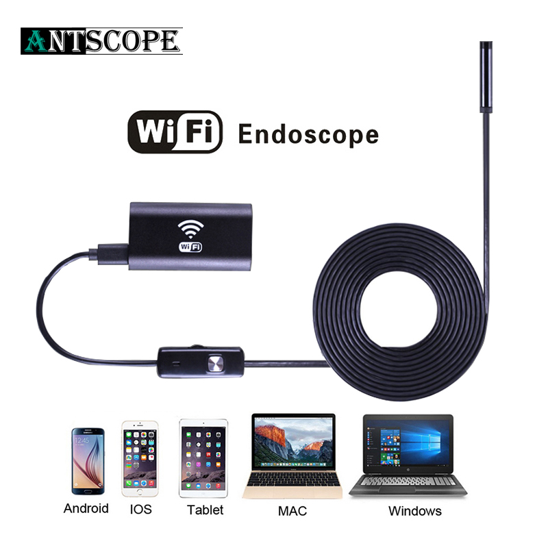 Antscope 8mm Lens 720P Android IOS Wifi Endoscope with 1m 2m 3.5m 5m Soft Wire Waterproof IPhone Endoscope Android Mini Camera19