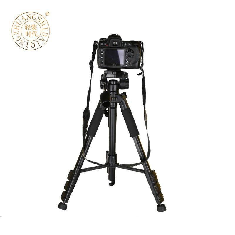 QZSD Q111 Portable Travel DSLR Aluminium Professional Video Photo Tripod Stand For Canon Nikon Digital Camera DV Max Loading 5kg qzsd q888 portable travel tripod monopod aluminum with ball head for dslr dv video camera camcorder