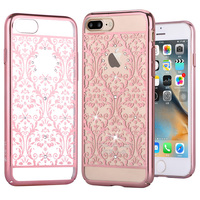DEVIA For IPhone 8 7 Plus Case Cover Crystals From Swarovski Baroque Diamond Plating Hard PC