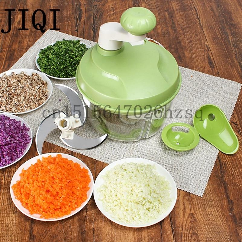 JIQI Multi-function Kitchen Manual Food Processor Household Meat Grinder Vegetable Chopper Quick Shredder Cutter Egg Blender