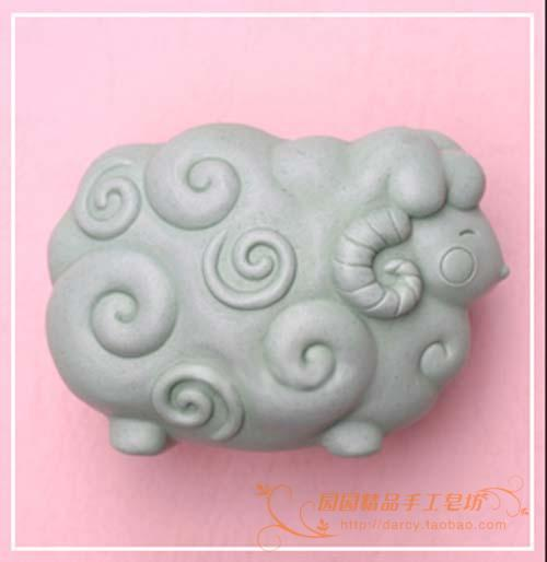 Molde de jabón de silicona de oveja Molde hecho a mano de silicona - Artes, artesanía y costura