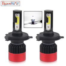 BraveWay свет для Авто H4 H7 H11 9005 9006 HB3 HB4 Малый Размеры светодиодные лампы для автомобилей H7 фар авто светодиодные лампы H4 мини Размеры H1