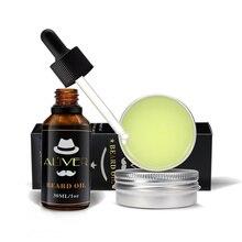 ALIVER 30ml/30g Men Beard Oil Strengthen Thicken Growth Argan Wax Shine Products