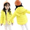 Ropa de bebé niña niñas chaquetas de invierno ropa de los niños de dibujos animados alas niñas bebés abrigo de invierno gruesa de algodón acolchado chaqueta de los niños
