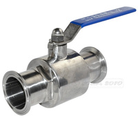 2 51MM Sanitary Full Port Ball Valve Clamp Ferrule WOG 1000 PSI High Pressure Durable Stainless Steel SS SUS 304 Valves