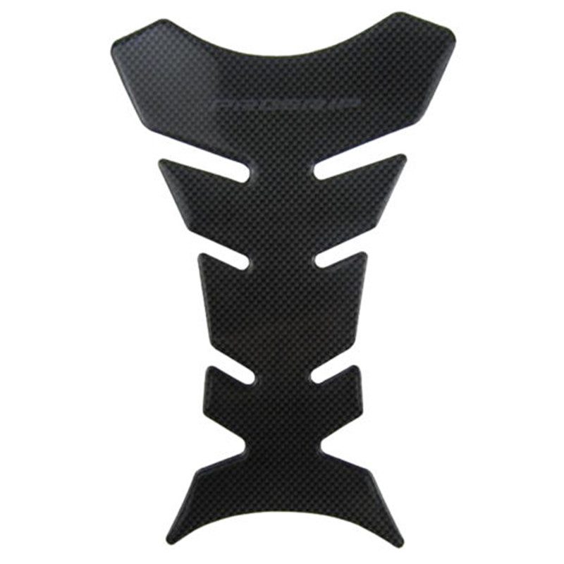 High Quality Hottest 1pcs Carbon Fiber Tank Pad Tankpad Protector Sticker For Motorcycle Universal Black