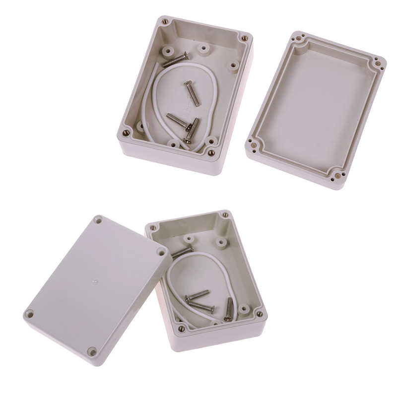 1PC White 83x58x33mm Clear Cover Electronic Plastic Box Waterproof Electrical Junction Case For Electronic Projects Box #64195