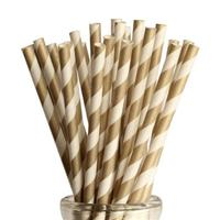 100pcs Striped Paper Straws Drinking Straws For Birthday Wedding Decorative Party Event Supplies Creative Drinking Straws