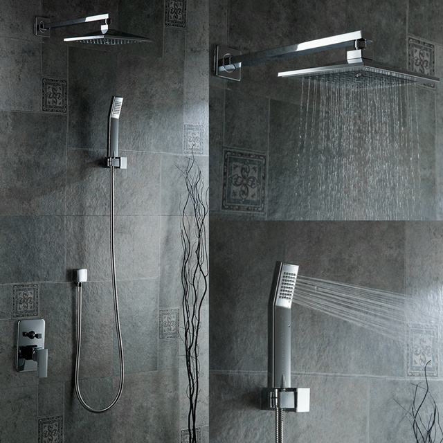 Attirant New Fashion Becola Luxury Shower Set Bathroom Rain Shower Faucet Wall  Mounted Concealed Shower Kit B