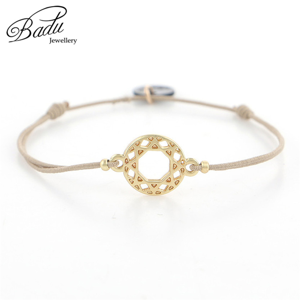 Badu Khaki Elastic Rope Bracelet Golden Charms Silver Skeleton Charming Bracelets Fashion Jewelry Gift for Girls Wholesale in Charm Bracelets from Jewelry Accessories