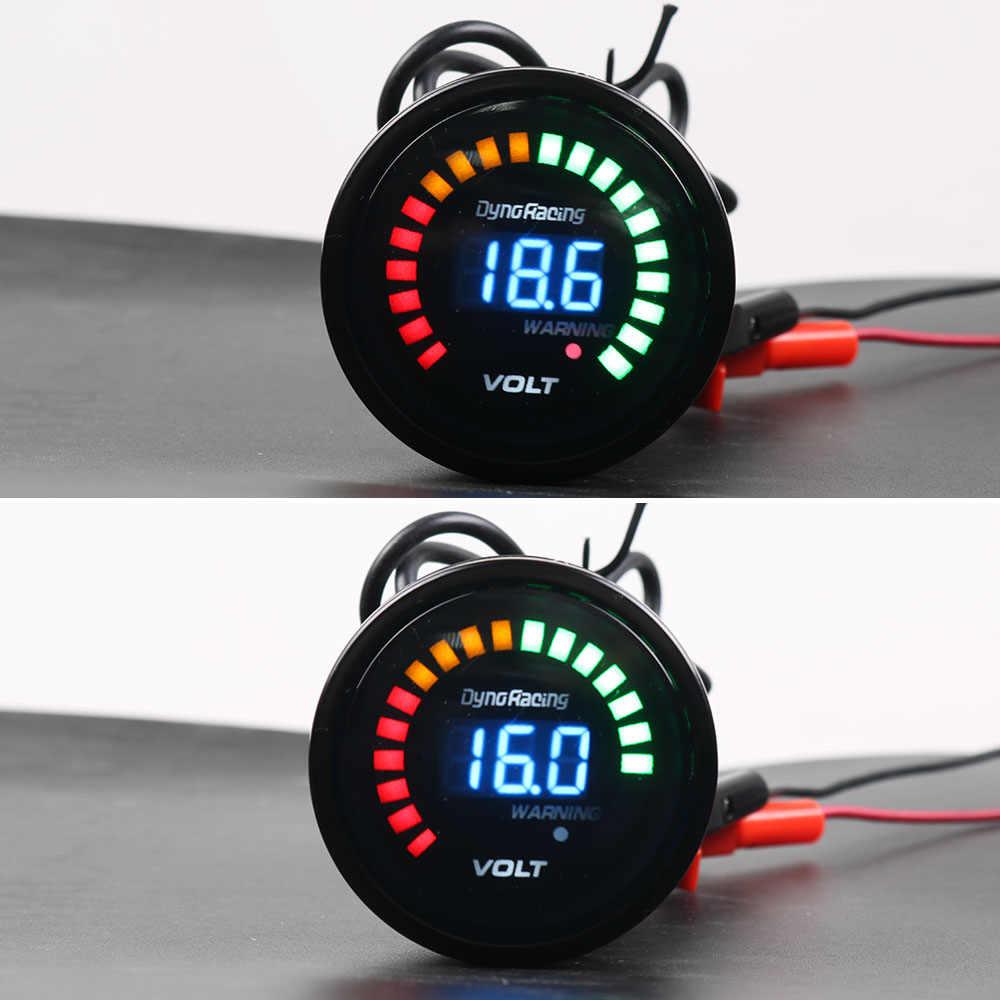 Dynoracing 2 pouces 52mm 12 V voiture voltmètre numérique LED boîtier noir 8-16 V Volt jauge compteur de voiture TT01456