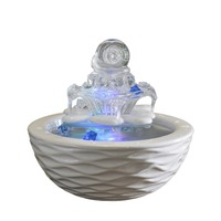 110/220V Modern Brief Desktop Ceramic Glass Water Fountain Living Room Office Humidifier Feng Shui Home Decoration Water Feature