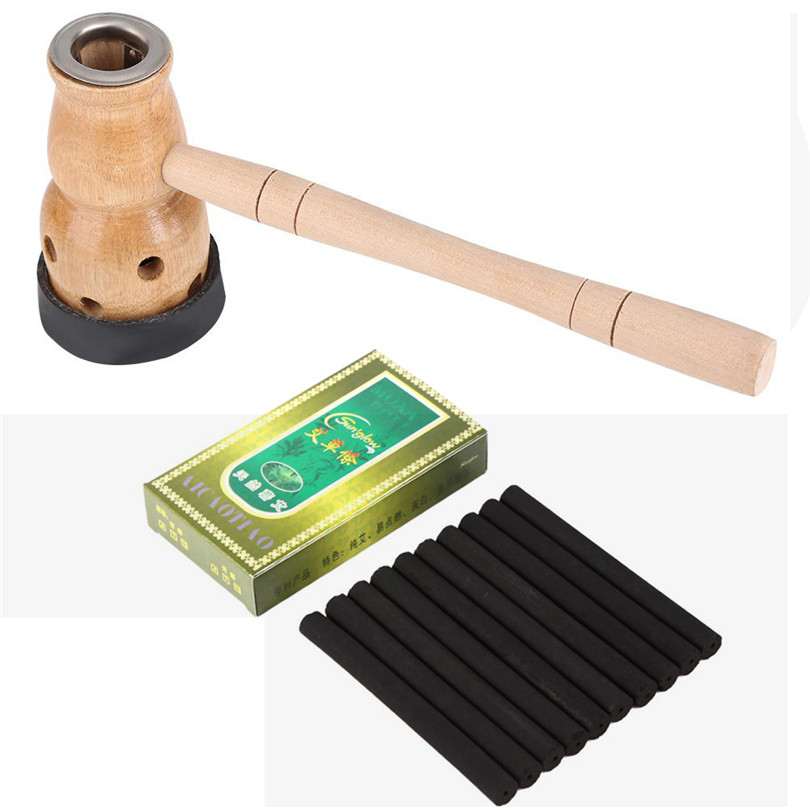 Navel Moxibustion Moxa Box Burner Chinese Traditional Massage Therapy Gourd Moxibustion Mugwort Roll For Antistress &Acupuncture portable moxa moxibustion box smokeless acupuncture massage wormwood therapy electronic convenient body warm moxibustion device
