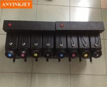 8 color UV bulk ink system with sensor for Wit color Litu Tiancai Flat outdoor UV