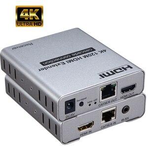 4 K 120 m HDMI удлинитель с петлей, используйте кабель cat5e или cat6 вместо кабеля HDMI для передачи HD сигналов до 120 метров